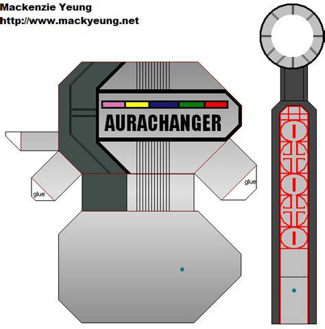 Power Rangers Morpher Papercraft - dairanger aura changer 1 by 80sguy on deviantart