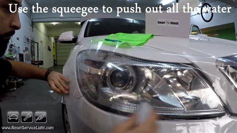 diy headlight tint diy easy way to apply tint on the headlights of your