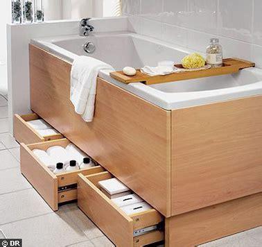 dessous de baignoire des rangements sous la baignoire de la salle de bain