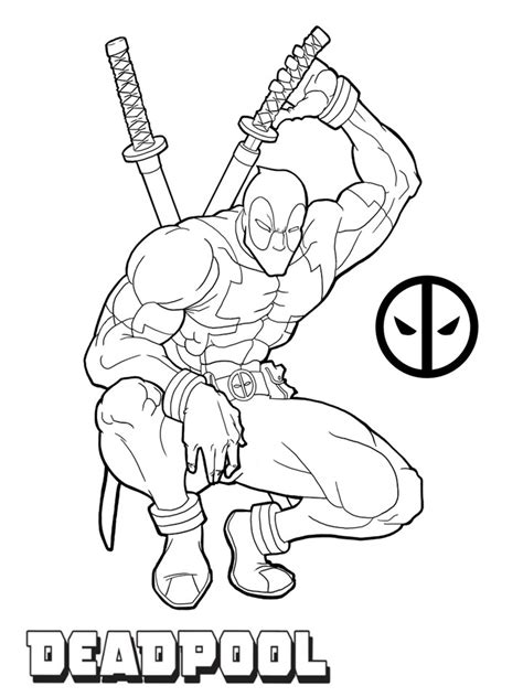 get this printable deadpool coloring pages online 106083
