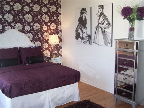 Fashion Bedroom | teen girl fashion bedroom in plum bedroom cleveland