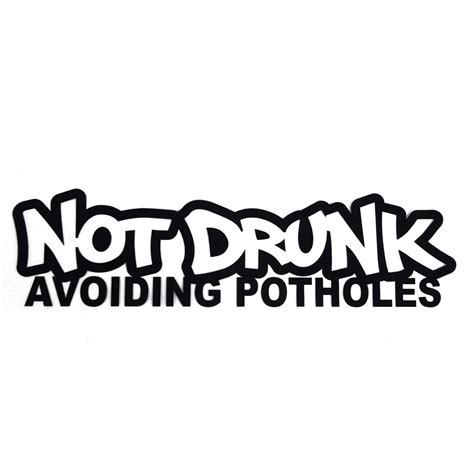 Jok Illest Black not avoiding potholes sticker decal jdm shocker
