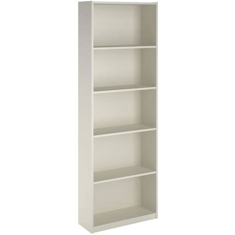white 5 shelf bookcase ameriwood 5 shelf bookcase storage home office shelving