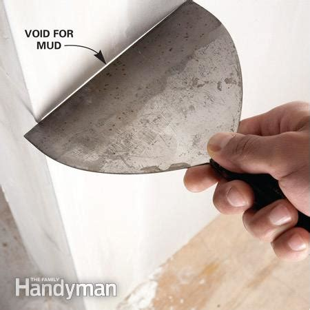 how to mud a corner bead how to install paper faced corner bead the family handyman