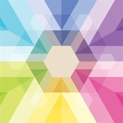 Fig 040 Hexagon Shapes Print Other Colorful - 17 best images about artistic patterns on