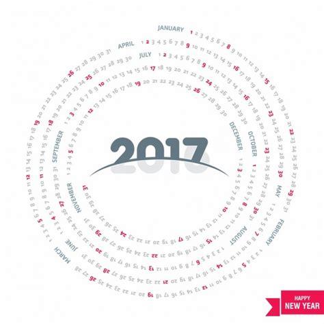 Circular Calendar Template circular calendar 2017 vector free