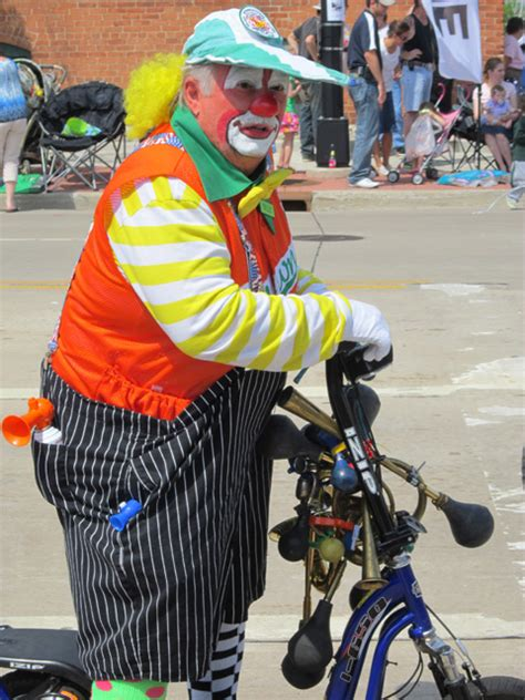 clown bikes clown on a bike in memorial day parade depere wisconsin 2011 photos about