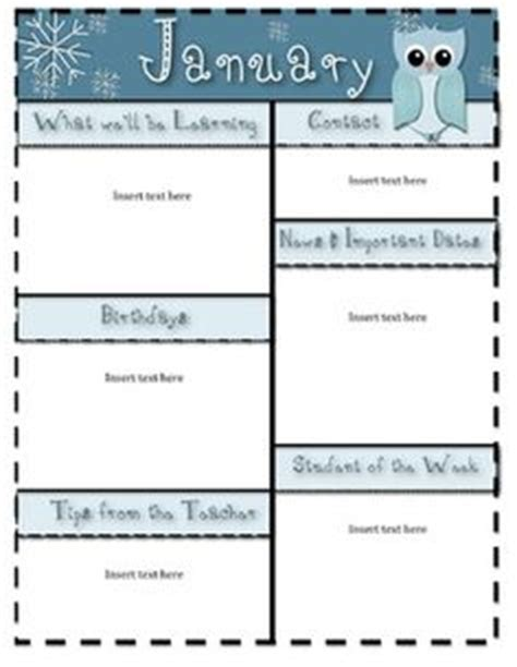 january newsletter template classroom newsletter templates free november