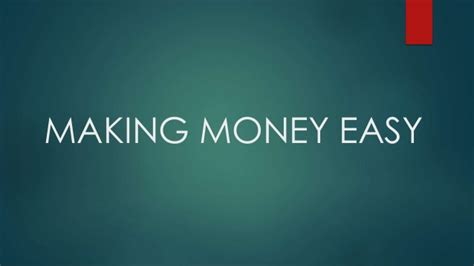 Making Money Online Easy - how to make money online easy