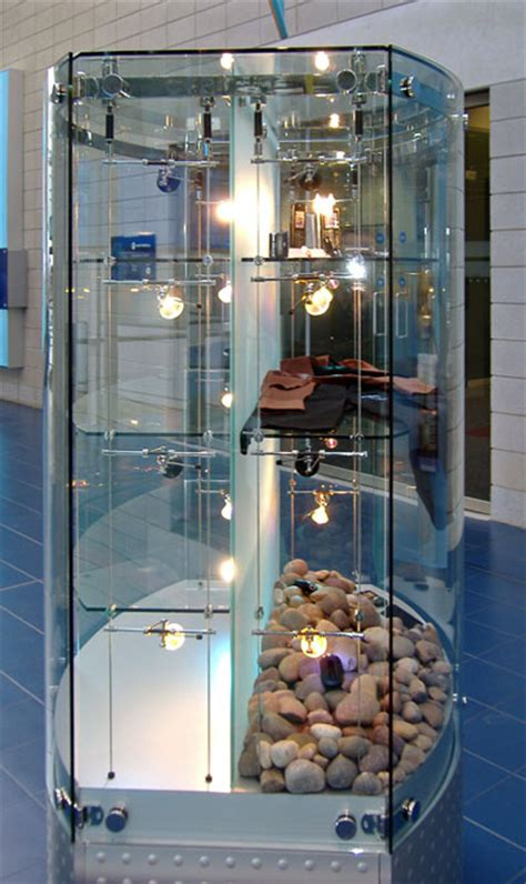 Custom Glass Display Cabinets and Bespoke   Shopkit UK