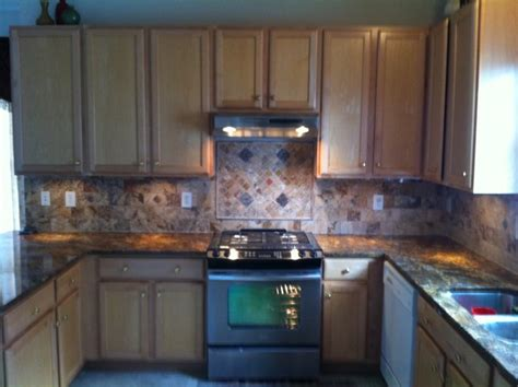 kitchen backsplash granite install