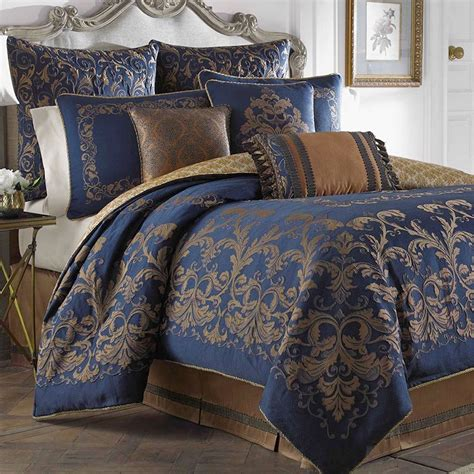 blue comforters monroe midnight blue comforter bedding by croscill