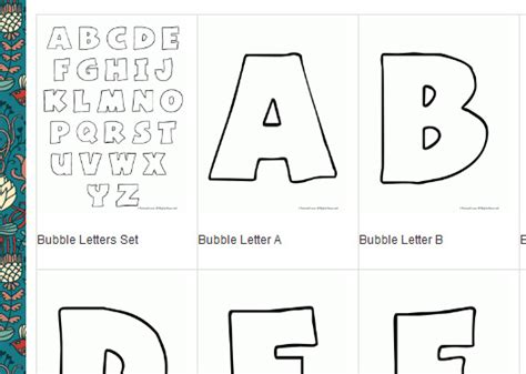 Printable Alphabet Bubble Letters | bubble letter printable coloring pages