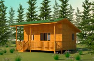Building Plans For Small Cabins by Wilderness Cabin Plan
