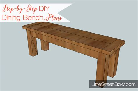 Dining Table Bench Plans Free Pottery Barn Inspired Diy Dining Bench Plans