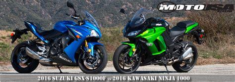 Suzuki Vs Kawasaki 2016 Suzuki Gsx S1000f Vs Kawasaki 1000 Comparison