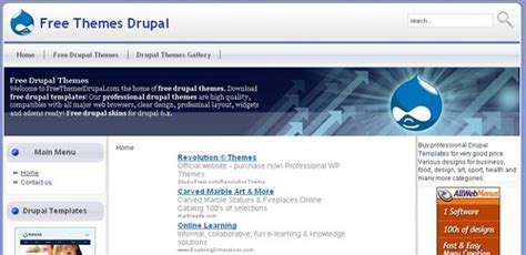 drupal themes for artists 12 resources for free drupal themes artatm creative