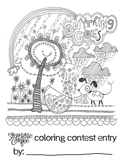 susie s whimsical coloring book for all ages books a coloring contest for the kiddos anything goes