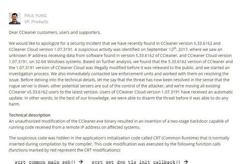 ccleaner ransomware ccleaner d 237 nh malware ảnh hưởng h 224 ng triệu m 225 y t 237 nh