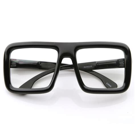 Square Glasses large retro bold thick square frame clear lens glasses