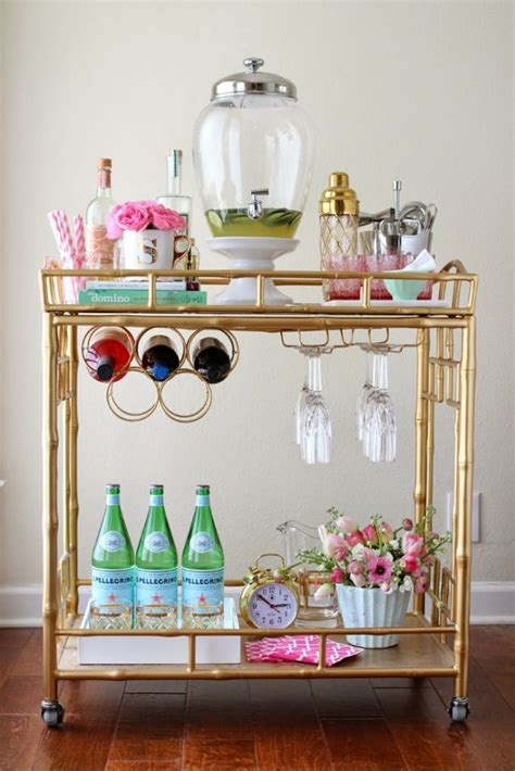 how to decorate a bar home decor the bar cart veryallegra