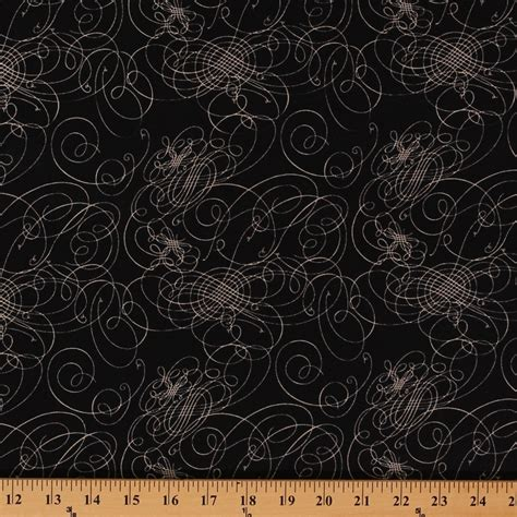 printable fabric by the yard cotton world map black swirls scrolls squiggles loops