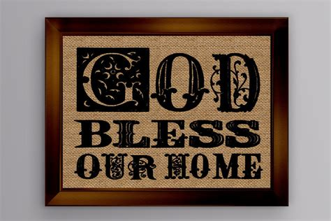 god bless our home burlap sign burlap print wall d 233 cor wall