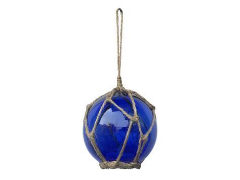 Wholesale Nautical Decor by Led Lighted Blue Japanese Glass Fishing Float