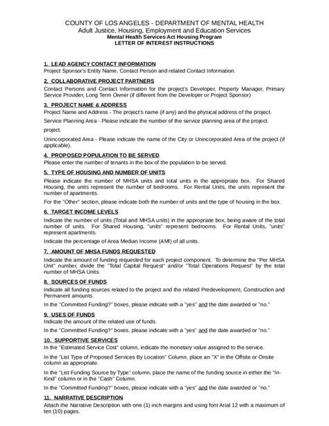 Letter Of Interest Project Finance 2018 letter of interest fillable printable pdf forms