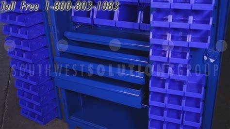heavy duty steel bin storage cabinet  drawers