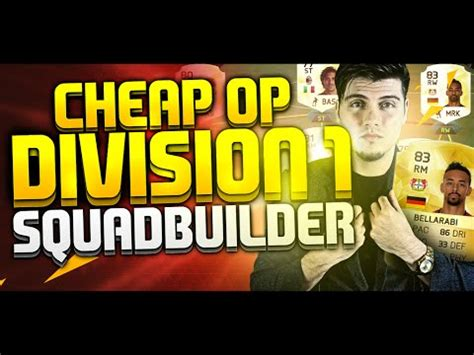 fifa 16 cheap overpowered division 1 hybrid squad builder