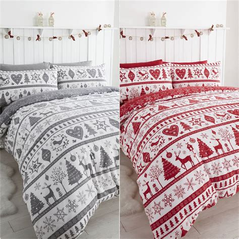 snowflake bedding noel christmas tree snowflake reversible duvet quilt cover