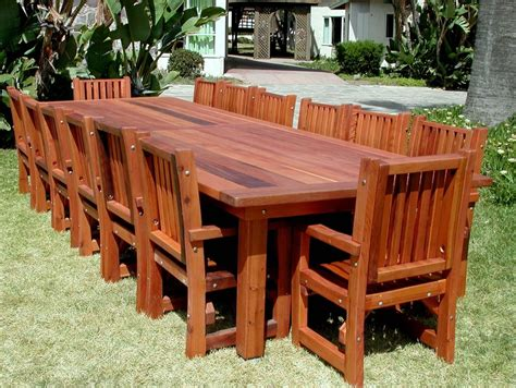 Wood Patio Tables San Francisco Patio Tables Built To Last Decades Forever Redwood