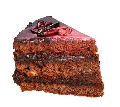 ein stück kuchen ein st 252 ck kuchen mit schokoladenglasur mit perlmutt