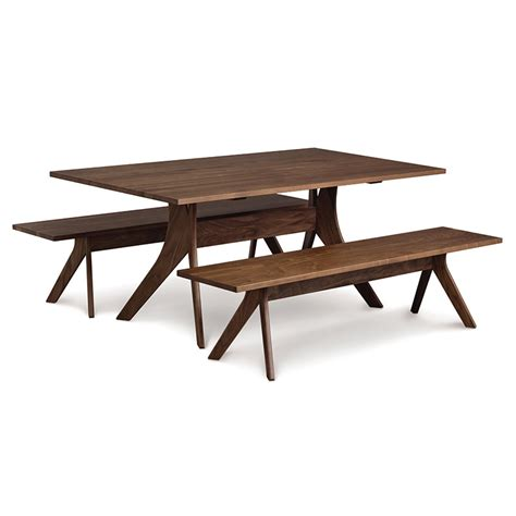 Solid Walnut Dining Table Copeland Walnut Solid Top Dining Table American Made Modern Contemporary