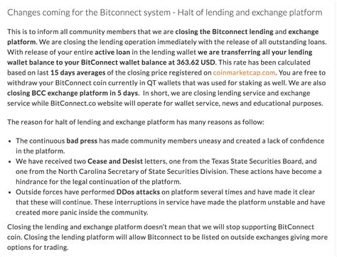 bitconnect scam indonesia bitconnect shuts down lending platform entire market