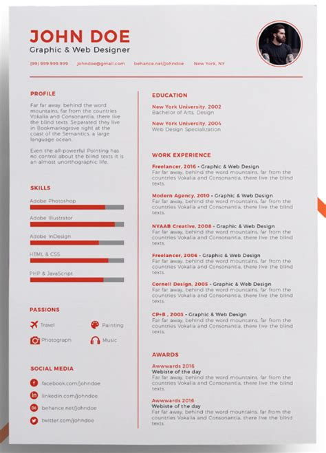 this eye catching resume template 15 eye catching resume templates that will get you noticed