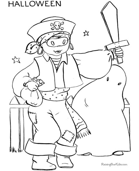 fun halloween costume coloring pages pirate 002