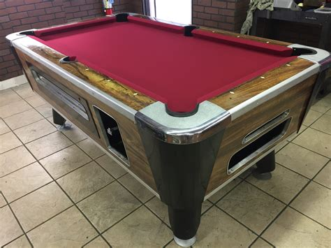 used valley pool table table 042217 valley used coin operated pool table used