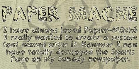 dafont latin paper mache font dafont com