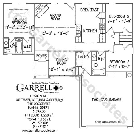 roosevelt floor plan roosevelt house plan house plans by garrell associates inc