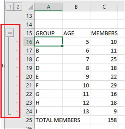 excel format group rows how to group rows and columns in excel oxen technology