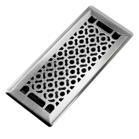 trademark tools cosmo      steel beveled edge floor register   home depot