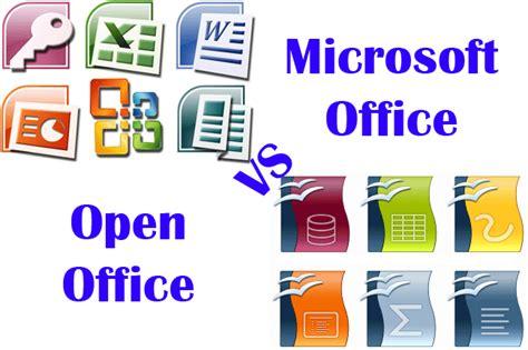 Microsoft Open Office Programas Y Aplicaciones Microsoft Office Vs Open Office