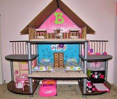 how to make a small doll house diy barbie house from small entertainment stand wow cool idea plus it would make a