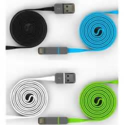 Promo 4 In 1 Kabel Charger Model Roll 1 Meter 2 in 1 duo magic cable lightning and micro usb cable for android ios split back model