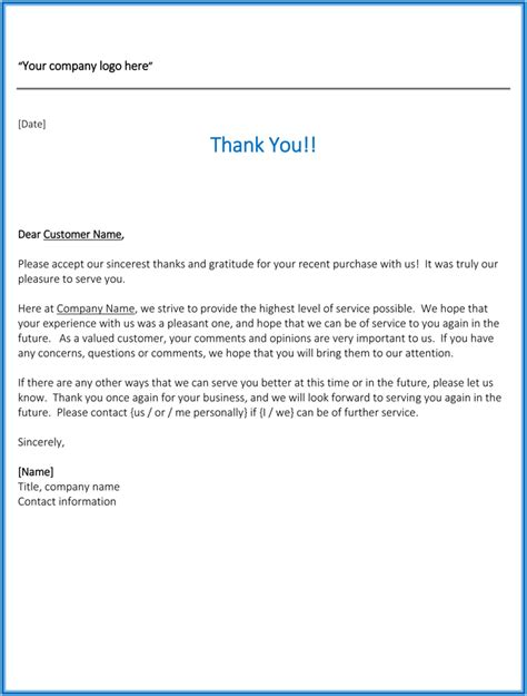 thank you letter business to customer best business thank you letter sles to stay professional