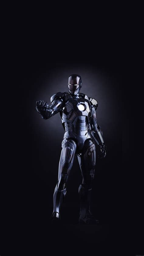 superhero iphone 6 wallpaper al99 ironman dark figure hero art avengers