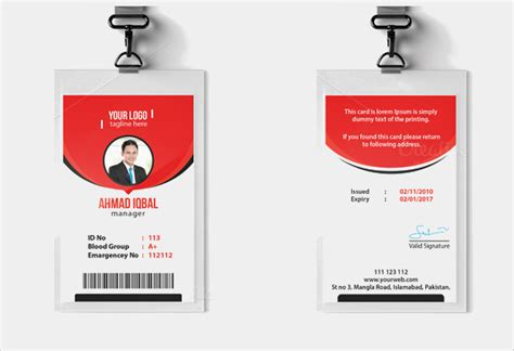 60 Amazing Id Card Templates To Download Sle Templates Id Card Template For Microsoft Word