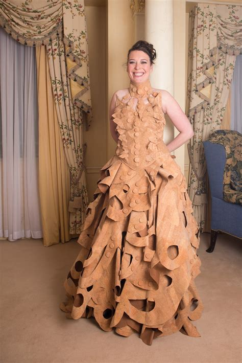 what is a s made of realcork rosie davenport wore a dress made out of cork